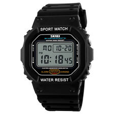 SKMEI 1134 Shock Vintage 50M Waterproof Watch LED Digital Display Wristwatch