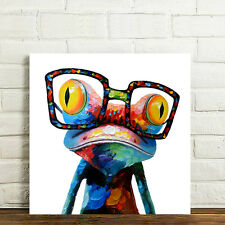 READY TO HANG Framed Modern Wall Art Canvas Print Poster Picture Sunglasses Frog