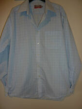 """Marks and Spencer blue checked non iron shirt. 15.5"""", 39-40cm"""