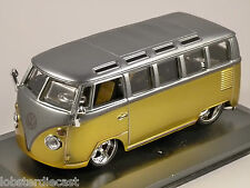 VOLKSWAGEN T1 SAMBA in Yellow / Silver 1/32 scale model by Burago
