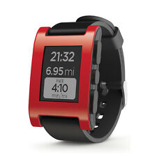 Pebble Time Black Rubber Strap 301RD Smartwatch (Android + IPhone)- RRP £ 99
