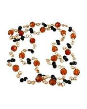 """STUNNING GENUINE ONYX AND FRESHWATER PEARL GEMSTONE NECKLACE LONG 55"""""""