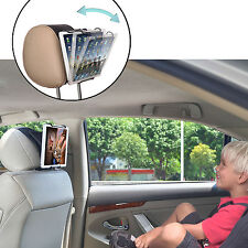 Car Headrest Mount Holder with Angle-Adjustable Clamp for Tablets