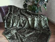 LUXUS Tagesdecke Kuscheldecke Wohndecke Decke Plaid dunkel grün 160x200cm