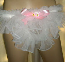 Prissy Sissy Maid Adult Baby CD/TV Soft Sheer Tricot Nylon Pouch Thong Pants