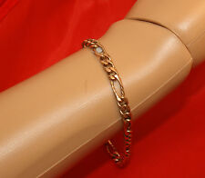 100%  Genuine 9k Rose Gold  Solid Strong Bracelet With a Parrot Clasp. AS New