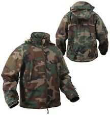 US SPECIAL OPS TACTICAL ARMY SOFTSHELL FLEECE JACKE WOODLAND CAMOUFLAGE Medium