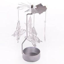 NEW METAL BUTTERFLY TEA LIGHT POWERED SPINNING CANDLE HOLDER DECORATION SPIN13