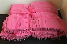 Laura Ashley Mia Bedspread Quilt Throw cerise pink Double Bedspread 200 Cm New