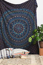Blue Mandala Hippie Tapestry Wall Hanging Throw Gypsy Boho Dorm Decor Tapestries