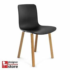Replica Jasper Morrison Hal Dining Chair - Black Seat / Beech Wood Legs
