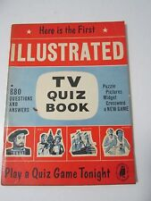 Here is The First Illustrated TV Quiz Book Vintage 1960s 880 Qs and As