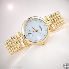 Luxury Women's Dress Bracelet Stainless Steel Crystal Fashion Quartz Wrist Watch