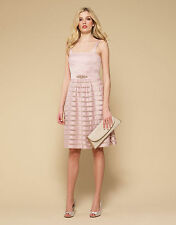 NEW MONSOON dress mink , dusky pink  prom party bridesmaid  12 rrp £169 strappy