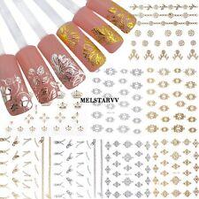 12 Blatt 3D Blume Nagel Aufkleber Maniküre Decals Nail Art Nagelsticker ER