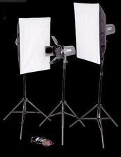 Studioset,Studioblitzanlage mit viel Zubehör - 3x 120 WS