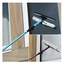 Telescopic Window Cleaner Kit 3.5 Meter Pole Cleaning Squeeze With Soft Head New