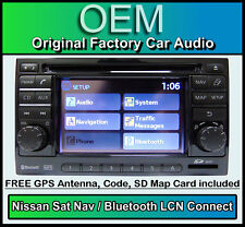 Nissan Juke Sat Nav car stereo with Map SD Card, LCN Connect CD player radio