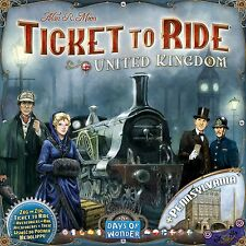 Ticket to Ride UK and Pennsylvania Expansion - New and Sealed