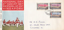 Singapore 1967 SG92 - 94 Second National Day. FDC
