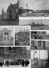BOMBARDMENT OF THE HARTLEPOOLS ON THE 16TH DECEMBER 1914.  REPRO  POSTCARDS.