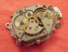 Vintage 1 Necklace Clasp Connector WristWatch Movement Steampunk Altered Art