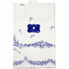 TALKING TABLES PARTY PORCELAIN PAPER TABLE COVER BLUE & WHITE TABLECLOTH SQUARE