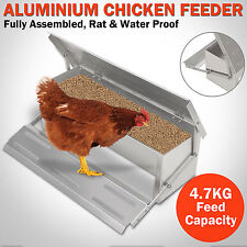 4.7KG Automatic Aluminum Chicken Feeder Chook Poultry Treadle Fully Assembled