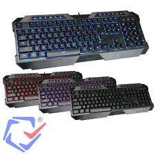 Multimedia Gaming-Tastatur USB Keyboard mit Beleuchtung UK Layout QWERTY Spieler