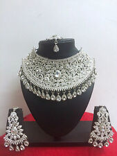 Bollywood Indian Bridal Necklace Earring Party Wear Fashion Jewellery Set