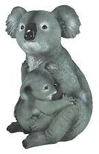 Dekofigur Koalabär mit Koala Baby Gartenfigur Tierdeko Koalafamilie Dekorationsf