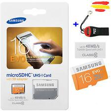 KARTE SPEICHER 16GB SAMSUNG KLASSE 10 + LESEGERÄT MICROSD 16 GB MIKRO-SD-USB