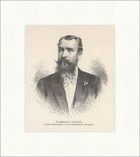 Hauptmann v. Francois Afrika Schutzgebiet Reichscommissar Holzstich E 18840