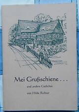 Hilde Richter Mei Grußschiene und andere Gedichte Waltersdorf Großschönau 1999