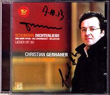 Christian GERHAHER & Gerold HUBER Signed SCHUMANN Dichterliebe Der Arme Peter CD