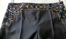 RARE!HARD TO FIND!EXQUISITE CHLOE EMBROIDERED BEADED WAIST TROUSERS