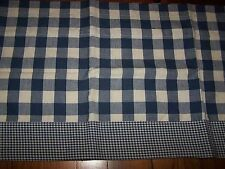 Blue Gingham Check Valance Country Farmhouse Fresh And Pretty 100% Cotton New