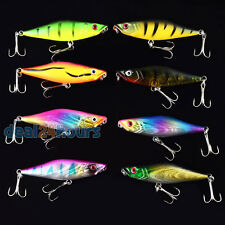 8pcs/lot Topwater Popper Fishing Lure CrankBait Hard Bait Bass Tackle 7.5cm/7.5g