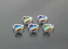 90pcs Fashion Jewelry Wholesale Lots Heart Design Mood Change Color Rings EH362