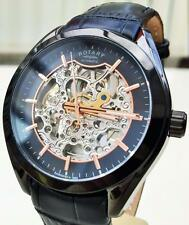 NEW Rotary Men's Rose Gold pl. Skeleton Automatic Watch Stunning Swiss RRP £210
