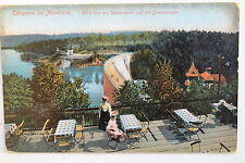 18547 AK Talsperre bei Marklissa Blick vom Restaurant auf Mauer um 1910
