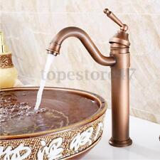 Antique Copper Faucet Vintage Style Bath Basin Sink Mono Bloc Mixer Tap Bathroom