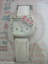 HELLO KITTY WATCH HK006 OFFICIAL SANRIO STAINLESS STEEL WHITE LEATHER GENUINE