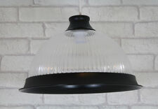 "Retro American Diner 14"" Ceiling Lamp Shade Light Pendant Fitting Matt Black"