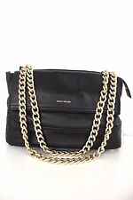 Karen Millen Black Santa Monica Leather Chain Tote Across Body Shoulder Hand Bag