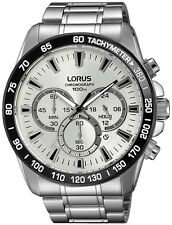 BRAND NEW Lorus Gents Chronograph Tachymeter Stainless Steal Watch RT319FX9