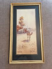 Vintage 1930s OLD Water Colour PAINTING art deco CAIRO SIGNED