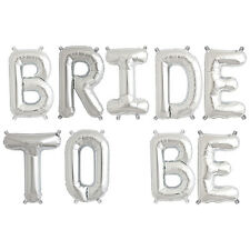 Party Supplies Silver 41cm Foil Letters Balloon 'BRIDE TO BE' Engagment Party