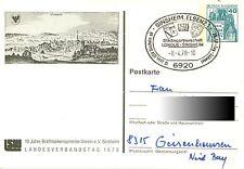 Deutschland: Privatganzsache Sinsheim, Elsenz Landeverbandstag 1979