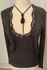 Jigsaw Lace Edged Twin Set Cardigan & Camisole Top